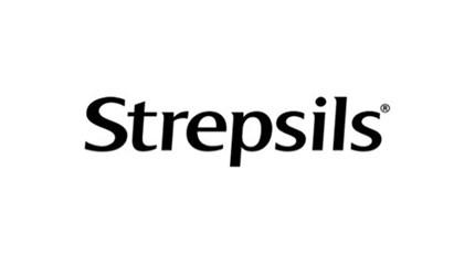 Strepsils logo with black font