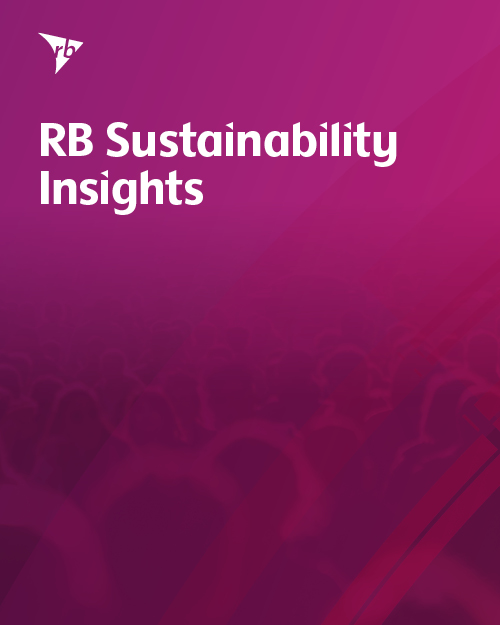 2019 RB Sustainability Insights front cover