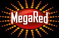Mega red logo.